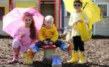 Offaly girls wowed the 'wellie walk' in the final of the Brightest Boots at the Ploughing