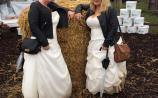 Ladies wear wedding dresses to the Ploughing to raise money for charity