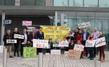 Tullamore Arts Centre campaigners protest at council meeting