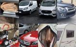 Gardai seize cars, vans, caravans and cash in  series of morning raids in Midlands