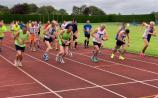 Competitors taking off in the Tullamore Harriers Gowran 8 last week, before the latest shutdown.