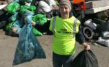 David Maher , Co- ordinator of Saturday's Clean -up in Portarlington.                  Photo: Michael Scully .