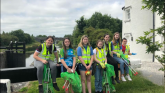 Offaly Comhairle na nOg clean rubbish from canal bank