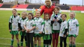GALLERY | Star struck...Leinster Community Games champions Killoe thrilled to meet Stephanie Roche at Longford Town league tie