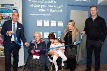 Offaly centenarian opens newly revamped Haven Fahey's pharmacy