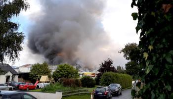 WATCH: Plumes of smoke in the sky as firefighters tackle Gelnisk blaze