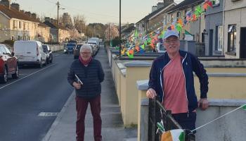 Tullamore street's colourful tribute to workers battling coronavirus