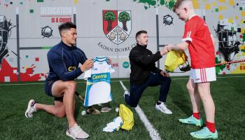 PICTURES: Hurling superstars launch new hurling wall at Offaly GAA club