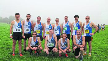 The Tullamore Harreirs men who competed in the Offaly Intermediate Cross Country Championships