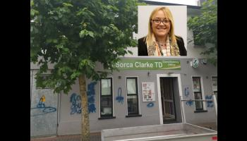 Midlands TD angered by intimidating graffiti attack on her office