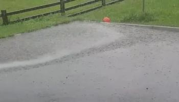 WATCH: Absolutely torrential rain affecting parts of Ireland as thunderstorms sweep across the country