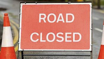 Road closed and fallen cables in Leitrim this morning after storm