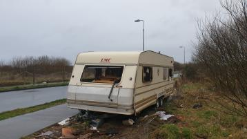 Caravans on footpath 'not fair' to Offaly town