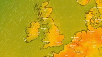 Ireland weather Met Eireann forecast