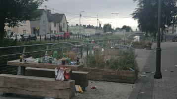 IN PICTURES: Tullamore street left in terrible state after outdoor night out