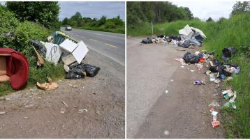 Disgraceful incident of illegal dumping on busy Offaly road