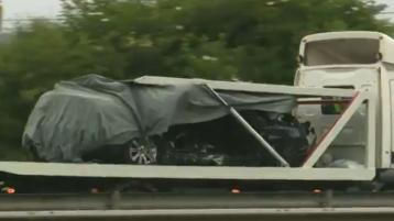 PHOTOS: Car removed from scene of N7 collision which killed three men