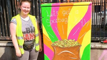 Offaly artist unveils class street work in Dublin