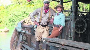 Dwayne Johnson as Frank and Emily Blunt as Lily in new film Jungle Cruise. all pictures: frank masi/2020 disneyenterprises inc.