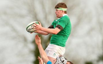 Birr's Jack Regan in action for Ireland