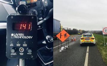 Driver clocked at 141km/h in 60km/h zone amid serious Garda warning
