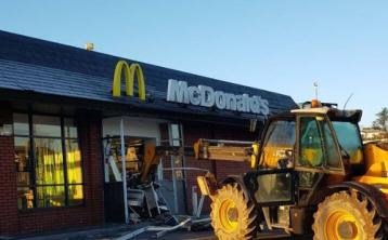 Digger involved in burglary at McDonald's in Limerick