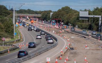 Dublin Kildare Limerick M7 motorway roadworks speed limit down to 25 km/h