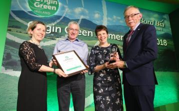 Offaly farmers win prestigious Bord Bia award for dairy