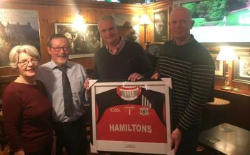 Offaly GAA club makes presentation to longtime sponsors