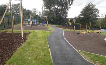 Joy as playground damaged in fire re-opens in Edenderry