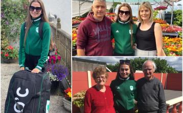 PICTURES: Exciting send off for Tullamore Harriers athlete Ava O'Connor jetting off to European Youth Olympics