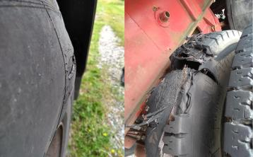 Offaly motorist facing fine for towing trailer with badly damaged tyres