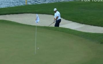 WATCH: Excellent bunker shot helps Shane Lowry make cut at Travelers Championship
