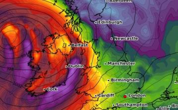 WEATHER WARNING: Met Eireann issues Status Yellow Wind and Rain Warning for parts of Ireland