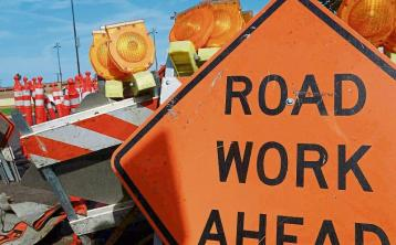 Stop go system in place on busy Offaly road