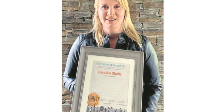 Caroline Sheils has received an award from third level students for her excellence and commitment in teaching.