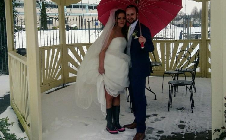 The story of this Offaly couple's wedding at the height of Storm Emma is incredible