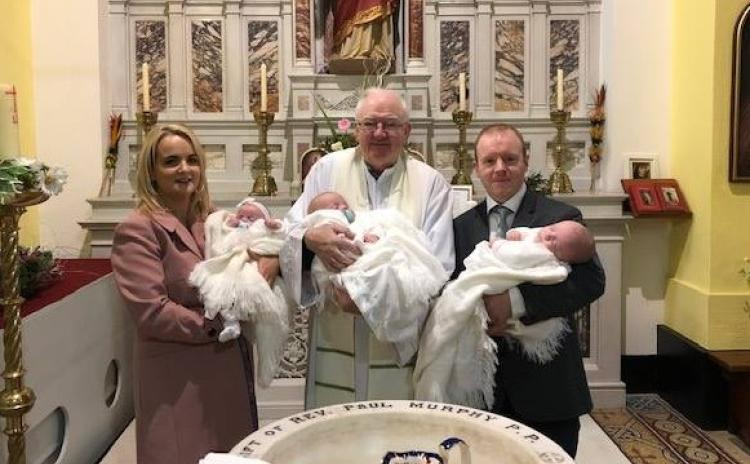 Offaly parish welcomes first triplets since 1951