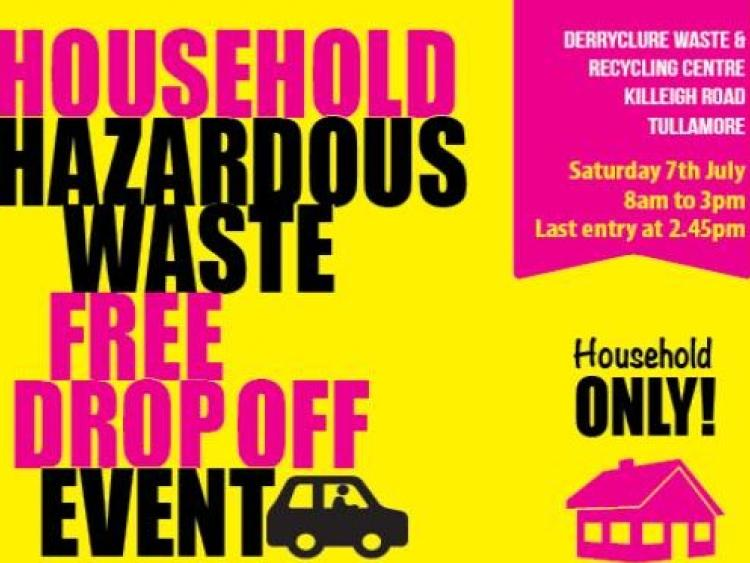 Offaly County Council holding free household hazardous waste