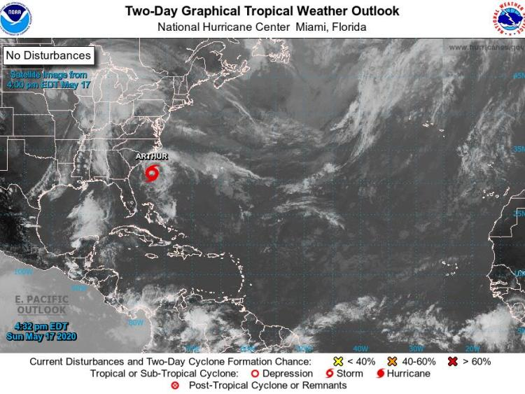 Tropical Storm Arthur 2020 bringing wind and rain to North Carolina